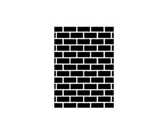 BRICK WALL Rubber Stamp~Bricks~Background Stamp~Brick Walkway~Brick Floor~Brick and Motar~Red Brick~Chimney~Cling Stamp (53-04)