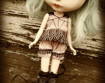 PATTERN Blythe Doll/Susie Sad Eyes Designer Pattern/Tutorial PDF for Hand-Dyed Corset Top and Shorts by Cindy Sowers