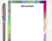 personalized notePAD - ABSTRACT ART 1 - modern stationery - stationary