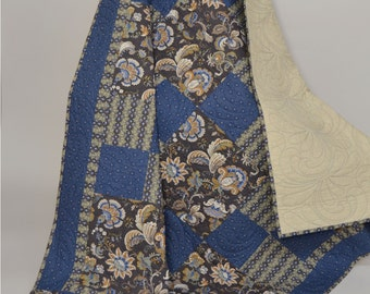 Quilt Handmade Patchwork Blue Civil War Fabrics