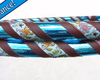 The 'WHIRLED GARDEN' Custom Fabric Travel Hula Hoop. Best Seller.  Made YOUR Way.