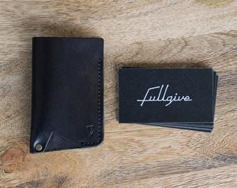 "Leather Card Holder - Wallet // ""Card Holder"" by fullgive in black"