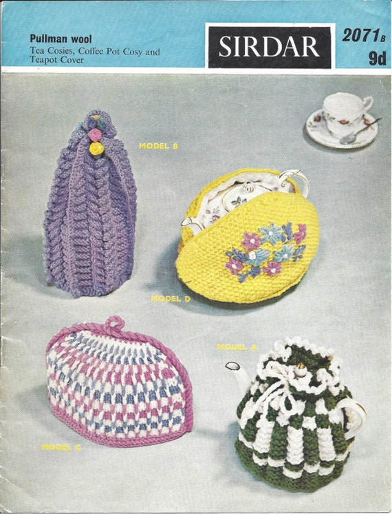 Tea Cosies, Coffee Pot Cosy and TEapot Cover Vintage Knitting Pattern 532 fro...