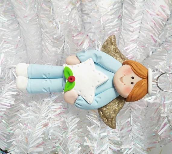 Baptism Ornament Christmas Ornament Personalized Baby: Polymer Clay Christmas Ornament