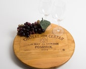 "Chateau Certan French Wine Crate featured on our 16"" Lazy Susan"