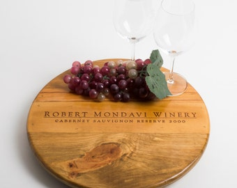 "Robert Mondavi Wine Crate featured on our 16"" Lazy Susan"
