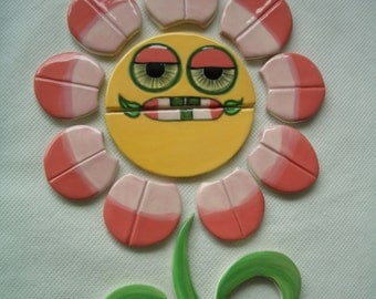 MELLOWDY - GROOVY Flower - Ceramic Mosaic Tiles