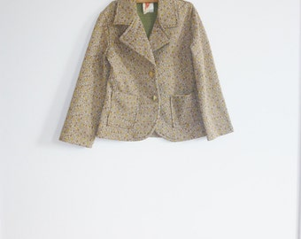 Vintage Brown Polyester Children's Jacket