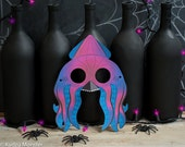 Printable Halloween Kraken Sea Monster Squid Mask DIY craft mask print at home classroom activity, cute, fun, scary mask for kids or adults