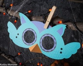 Printable Halloween Owl Mask for kids DIY Halloween activity instant download print at home mask with 3D beak and wings