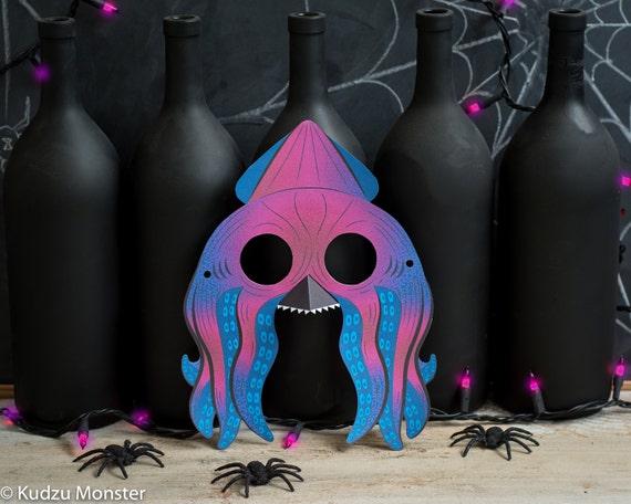 Printable Halloween Kraken Sea Monster Squid Mask DIY Craft Mask