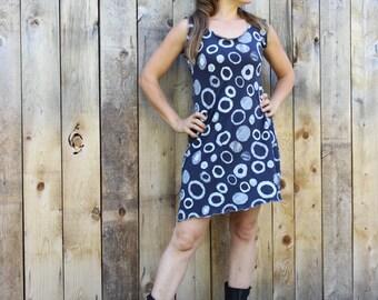 Orbit Sleeveless Tunic Dress - Hemp and Organic Cotton - Made to Order - Eco Fashion - Boho Chic