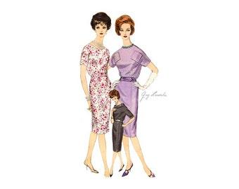 1960s Vogue Paris Original 1000, Guy Laroche Sheath Dress Pattern, One Piece Dress Vintage Sewing Pattern, Sew In Label