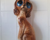 RARE Vintage Large BIG EYES Puppy Dog Ornament Statue 1960's