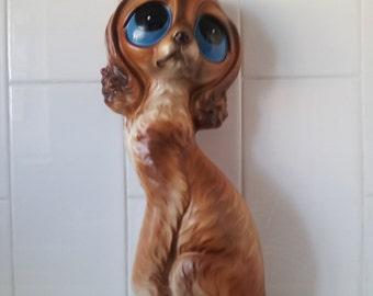 RARE Vintage Large BIG EYES Puppy Dog Ornament Statue 1960's
