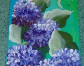 Handpainted Vintage Slate Roofing Tile Welcome Signs  Floral   Birdhouses