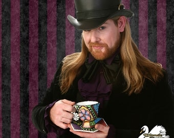 Steampunk Mad Hatter Top Hat