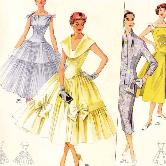 Neue Modelle Summer 1956 PDFs - vintage sewing pattern catalogs