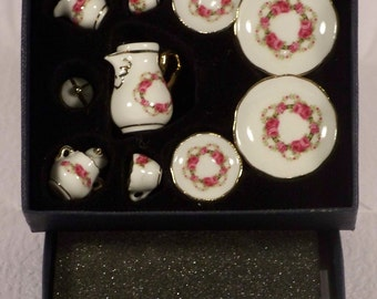 Miniature Reutter porcelain coffee service. set for Fashion dolls