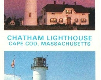 Vintage Cape Cod Postcard - Chatham Light (Unused)