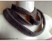 Tyre Tracks Crochet Scarf Pattern, Round Circle Scarf Pattern, Crochet Scarf Necklace Pattern, Fashion Designer Scarves For Ladies