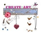 Create Art and Dance in the Rain Prints - Digital Download