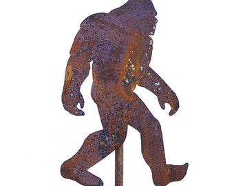 Big Foot Sasquatch Yeti Metal Garden Art Stake-Home and Garden Decor Great Christmas Gift