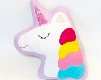 Unicorn Cushion - Unicorn Decor - Kawaii Decor - Nursery Decor - Unicorn Nursery Decor - Unicorn Gifts - Unicorn Pillow