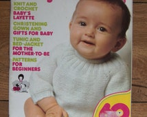 Vintage 70s Knitting crochet patterns Mon Tricot for BABY 60 designs