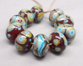 10 handmade lampwork beads (5)