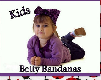 KIDS...Betty Bandana in Lady Bug Print
