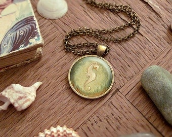 Seahorse Necklace, Seahorse Pendant, Seahorse Jewelry, Nautical Necklace, Animal Art, Animal Jewelry, Kids Jewelry Children - Baby Seahorse