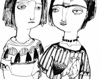 Sister Christina with Frida Kahlo