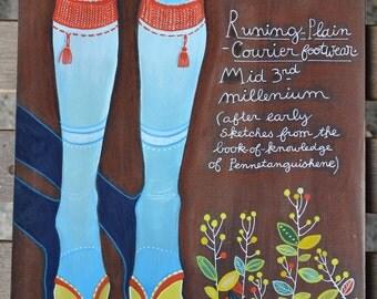 Running Plain Courier Footwear - Art by Kipik - 2011 - watercolours inks and pencils - original