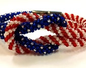Kumihimo, PATTERN, Stars Stripes, Patriotic, Bracelet, PDF Download, Kumihimo Pattern