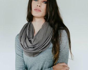 Taupe Merino Wool Infinity Scarf
