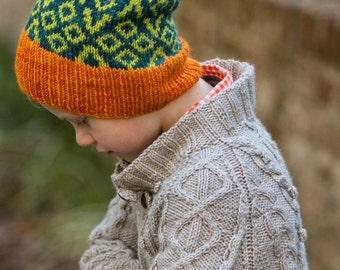 make your own Brochan Slouch (DIGITAL KNITTING PATTERN) infant toddler child tween teen adult