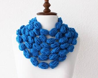 Infinity Scarf Loop Scarf Circle Scarf Cowl Scarf Black Crochet Bubble Scarf Apple Candy Chunky Neckwarmer