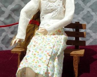 BJD Butterfly Blouse and School Teacher Skirt