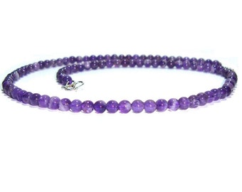 Genuine Amethyst Necklace - Gift For Her