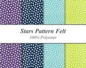 "Star Pattern Felt Sheets - 12"" X 12"""