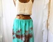 LargeTie Dye Mini Skirt/Earth Fairy Skirt/Tye Dye Clothing/Hippie skirt/Repurposed skirt/Earth Day Goddess Skirt/Lucysroom/Music Festival