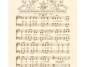 SURELY The Presence Of The LORD Is In This Place - Custom Christian Home Decor - VintageVerses Sheet Music Wall Art - Inspirational Wall Art