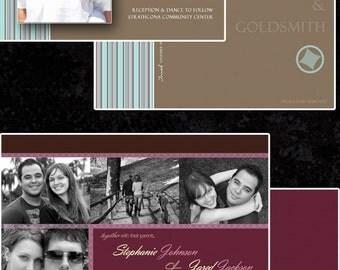 Wedding Invitation Templates Professional Photographers 16 psd Files Photoshop PSD Fully Layered 5x7, 4x6, and 5x7 WHCC ready Backs JB