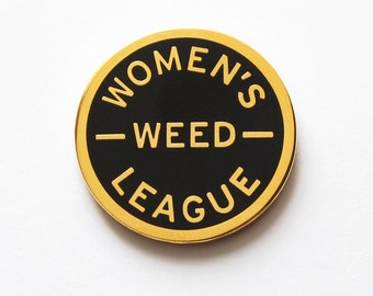 Women's Weed League - Enamel Lapel Pin