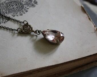 Victorian Crystal Necklace - Crystal Drop Necklace - Victorian Bride