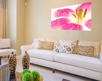 Canvas Prints - Flower Canvas Wall Art - Canvas Prints of Red Flower - Flower Canvas Print - Framed Ready to Hang Floral Prints On Canvas
