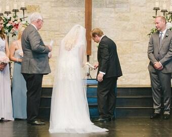 Rose Unity Candle Set, Elegant Wedding Candle, Church Wedding Ceremony Decor, Unique Unity Candle, Beeswax Rose Candles You Pick Petal Color