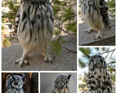 Needle Felted  Owl. Eagle Owl .