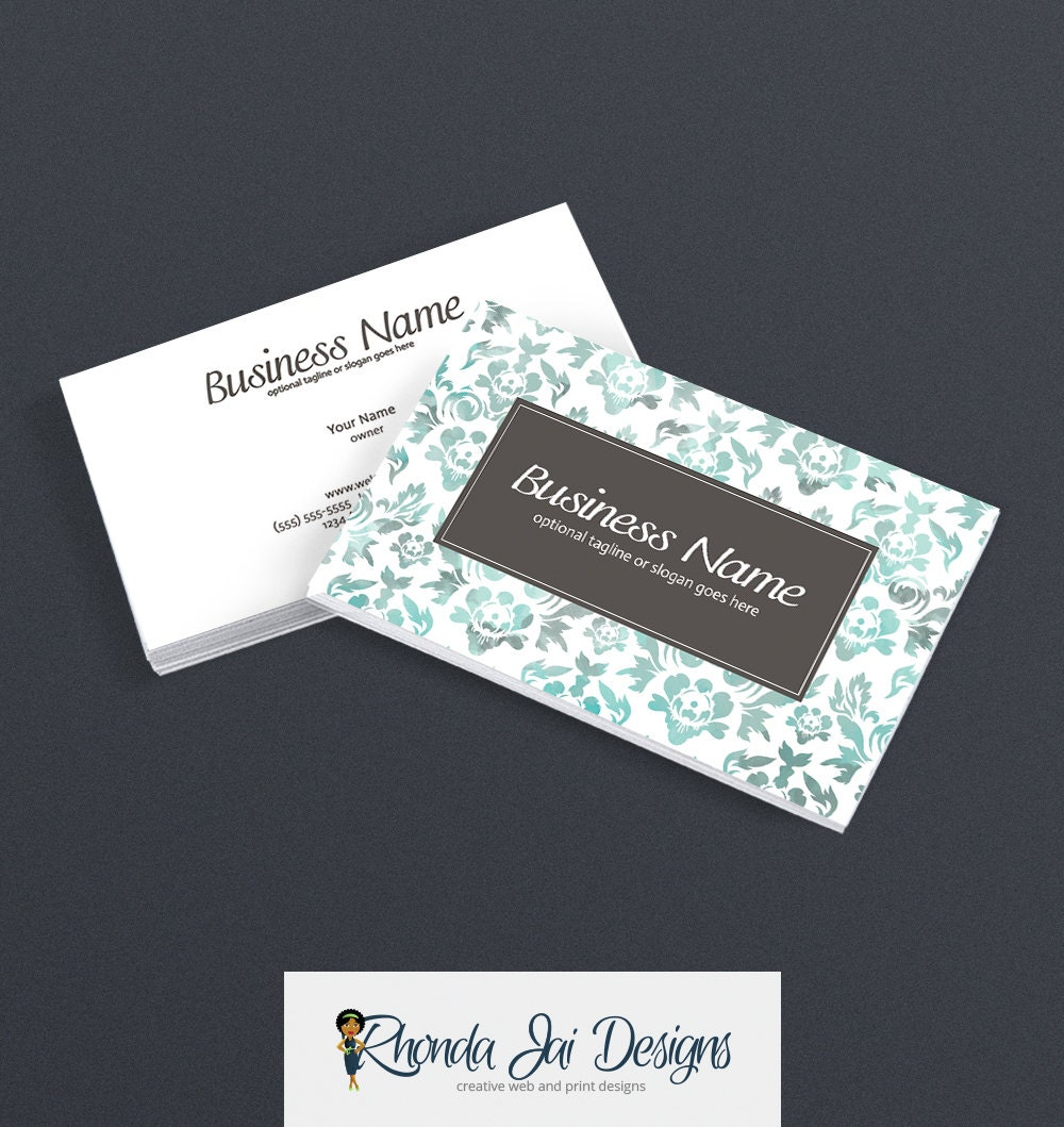 Business Card Designs 2 Sided Printable Business Card Design